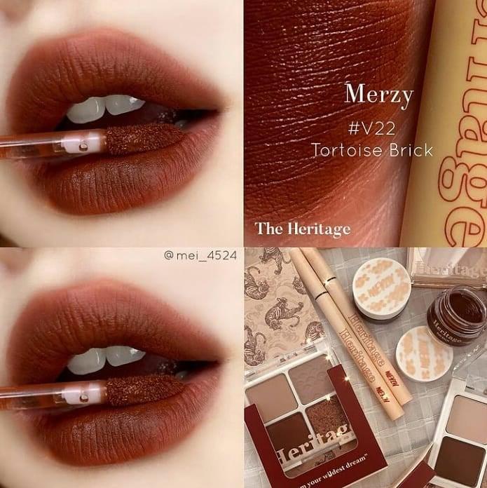 Review bảng màu son kem lì Merzy The Heritage Velvet Tint khiến nàng say  như điếu đổ   Beautyhouse